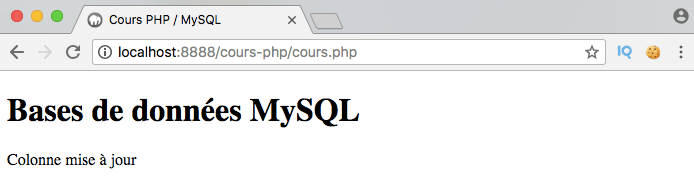 On modifie la structure d'une table SQL en modifiant ses colonnes avec PDO PHP