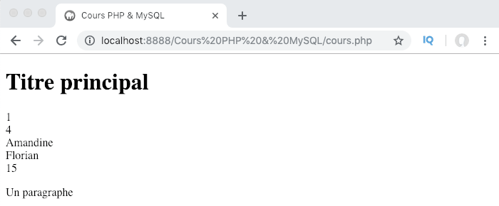 On peut accéder aux valeurs d'un tableau multidimensionnel PHP en utilisant plusieurs index