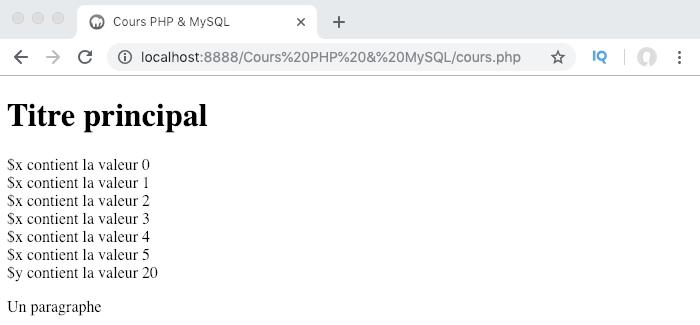 Exemple de création et d'utilisation d'une boucle PHP do while