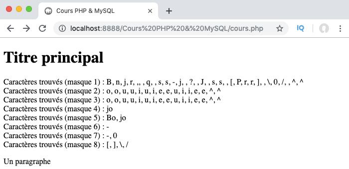 Présentation et exemple d'utilisation des métacaractères des expressions régulières PGP