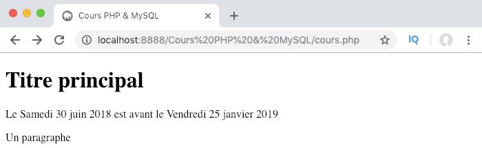 On peut facilement comparer des dates en PHP en comparant leur timestamp unix