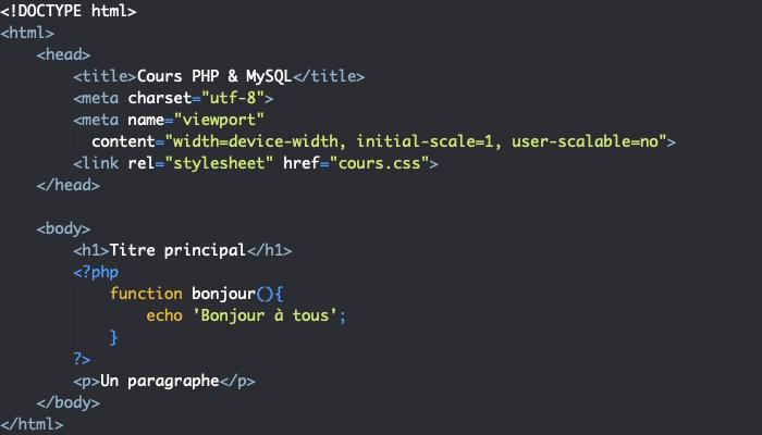 Exemple de création de fonction personnalisée en PHP