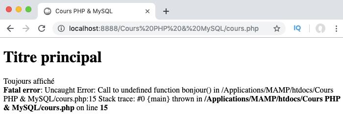Ajout d'un bloc finally dans la gestion des exceptions en PHP qui s'exécutera dans tous les cas