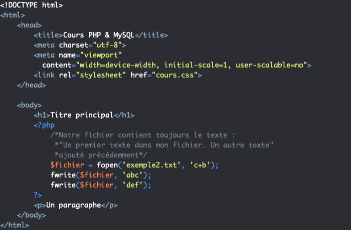Créer Et écrire Dans Un Fichier En Php Pierre Giraud
