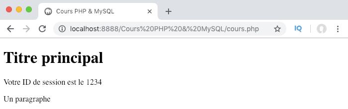 Création et affichage de la valeur d'un cookie en PHP avec setcookie et echo