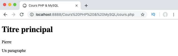 On utilise les méthodes publiques de classe depuis un objet pour accéder aux propriétés en PHP