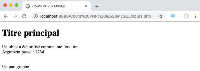 Exemple d'utilisation de la méthode magique invoke en PHP objet