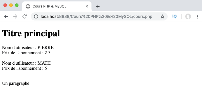 Exemple d'utilisation de la méthode magique tostring en PHP objet