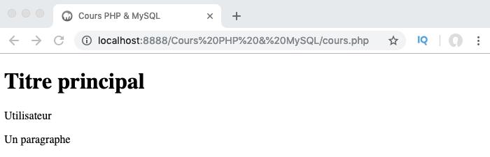 Exemple illustrant les problèmes de comportement liés à self en PHP objet