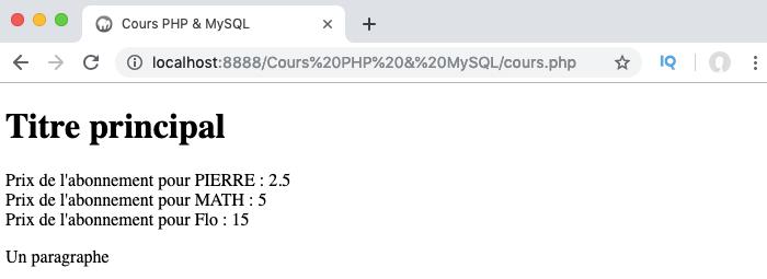 Exemple de définition et d'utilisation d'une interface en orienté objet PHP
