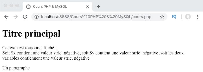 L'opérateur logique inverse et le transtypage en PHP