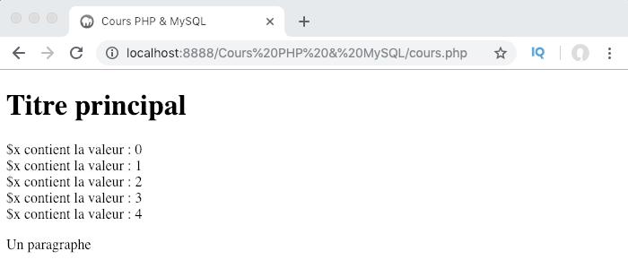 Utilisation du mot clef static et portée des variables PHP