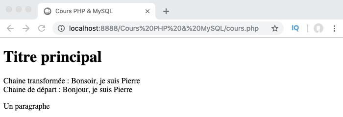Exemple d'utilisation de la fonction PHP preg_filter