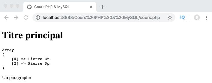 Exemple d'utilisation de la fonction PHP preg_grep