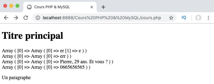 Présentation et exemple d'utilisation des quantificateurs des expressions régulières PHP