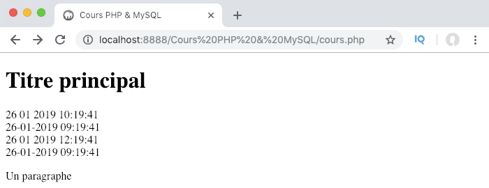 Utilisation des fonctions set-default-timezone et set-gmdate en PHP