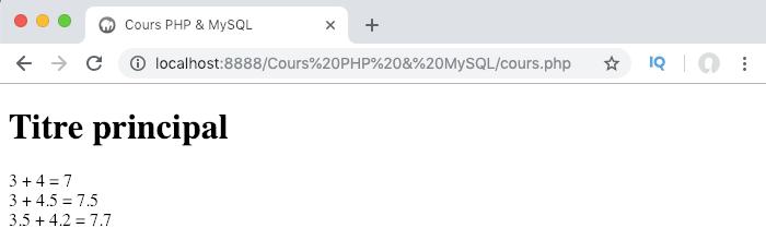 On utilise le typage strict des arguments dans notre fonction PHP