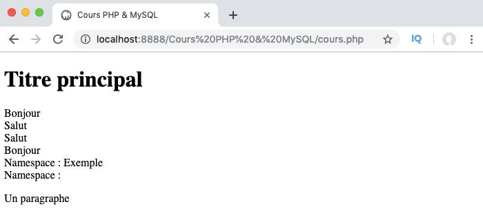 Utilisation de la constante magique __namespace__ en PHPP