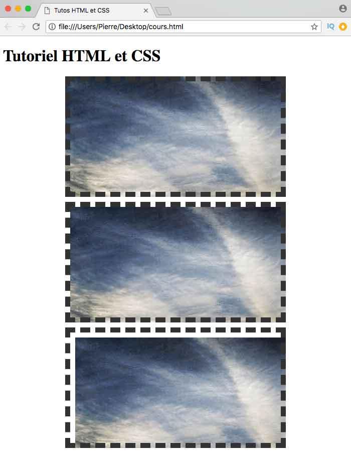 Résultat de l'utilisation de la propriété CSS background-origin