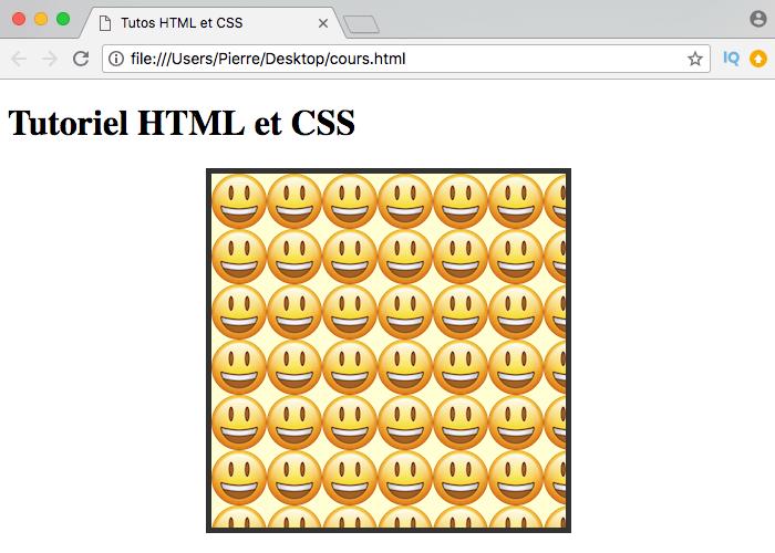 Par défaut, le fond d'un élément HTML se répète avec background-repeat en CSS