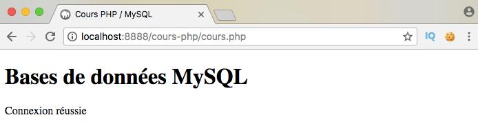 Se connecter à une base de données mysql en php en utilisant du mysqli objet