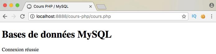Se connecter à une base de données mysql en php en utilisant du mysqli procédural