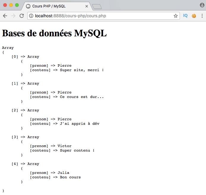 Exemple de création d'un inner join SQL avec PDO PHP