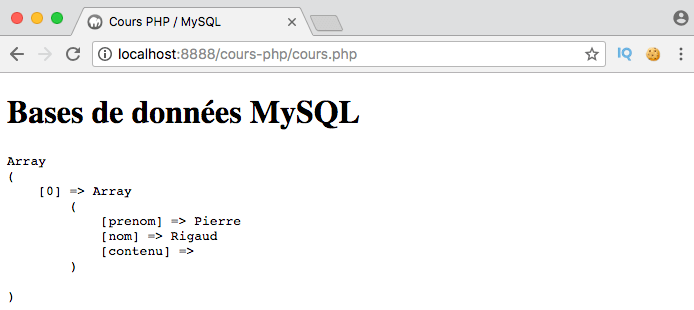 Exemple de création d'un left outer join SQL avec clause where en PDO PHP