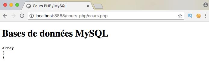 Exemple d'utilisation de l'opérateur SQL all dans une sous requête via PDO PHP