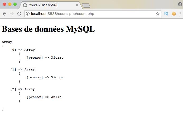 Exemple d'utilisation d'union en sql avec pdo php