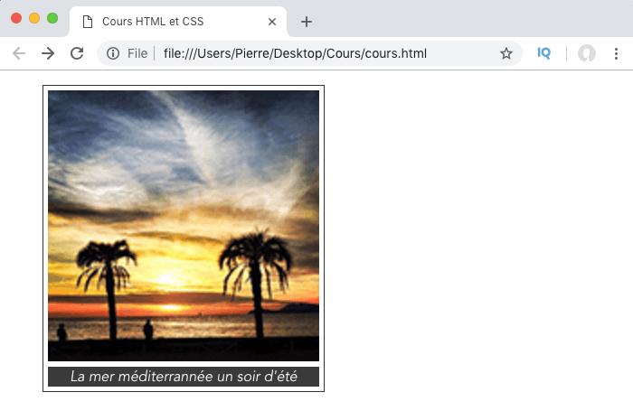 On ajoute une légende à nos images en HTML avec les éléments figure et figcaption