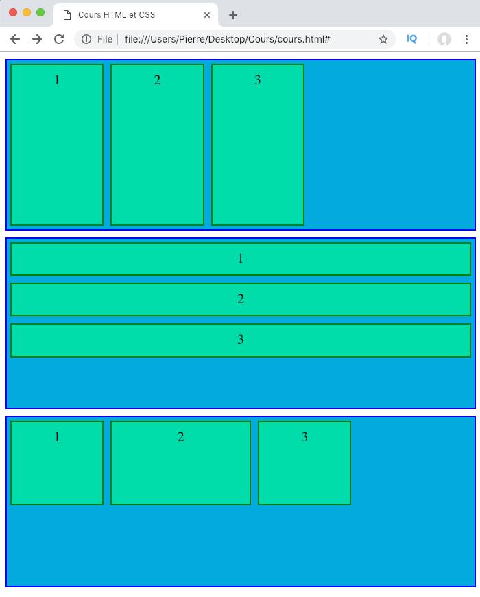 On définit une taille de base pour les éléments flexibles du flexbox avec la propriété CSS flex-basis