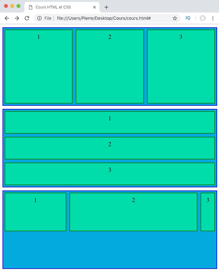 La propriété CSS flex est la notation raccourcie de flex-basis flex-grow et flex-shrink