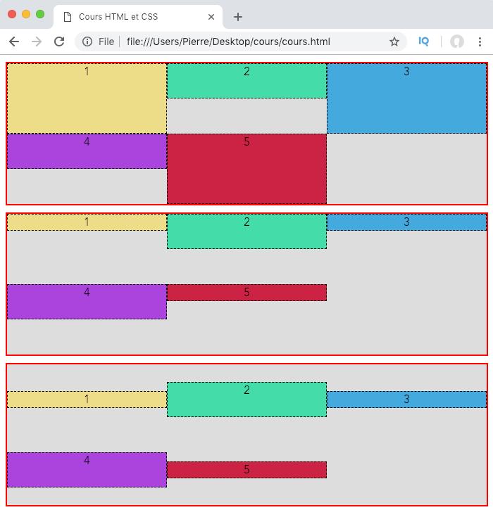 On aligner les éléments ou les pistes d'une grille par rapport à l'axe de bloc avec la propriété align-items