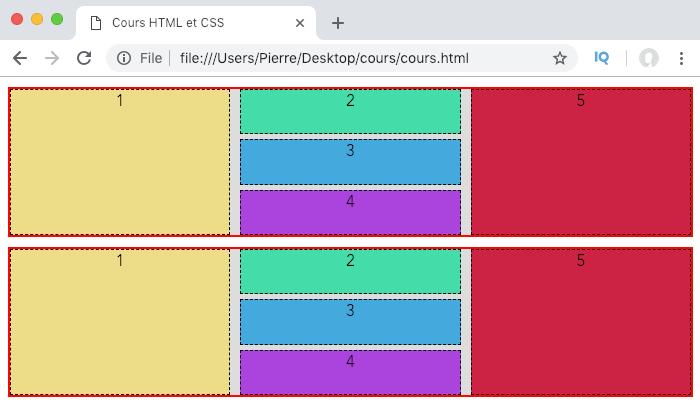 On définit les tailles des gouttières pour espacer les éléments de grille avec row-gap et column-gap