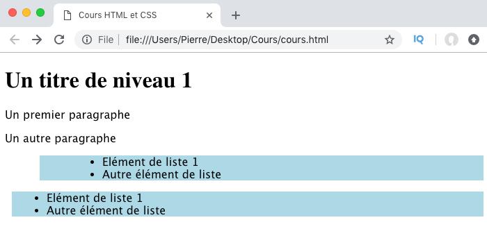 Résultat de l'utilisation des valeurs inherit et initial en CSS