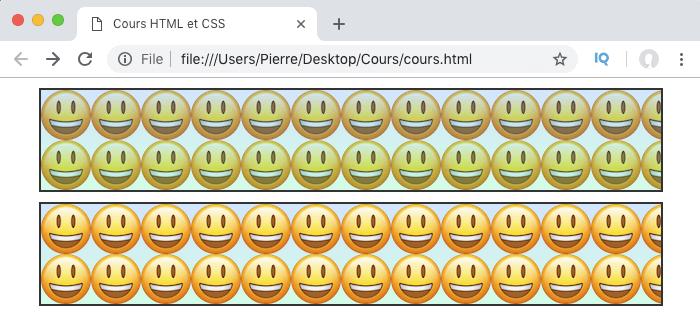 On ajoute un dégradé linéaire semi transparent en CSS par dessus une image de fond