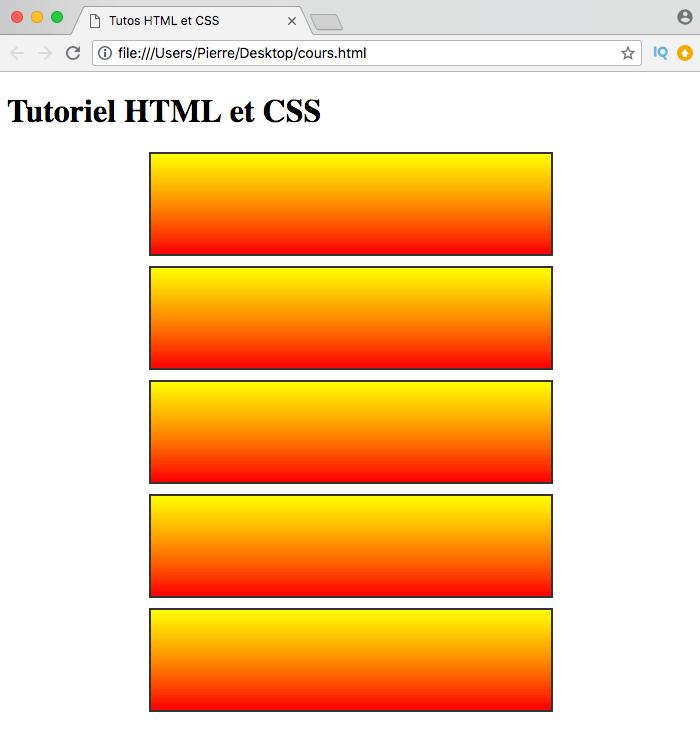 On crée des dégradés linéaires simples en CSS avec linear-gradient