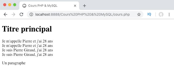 Présentation de l'opérateur de concaténation en PHP