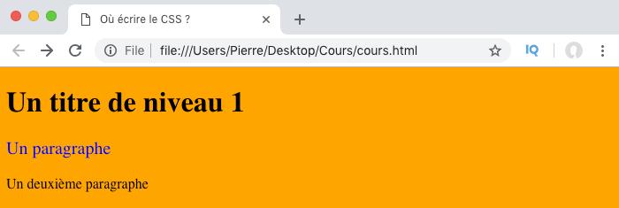 Application des styles CSS définis dans l'attribut style au fichier HTML