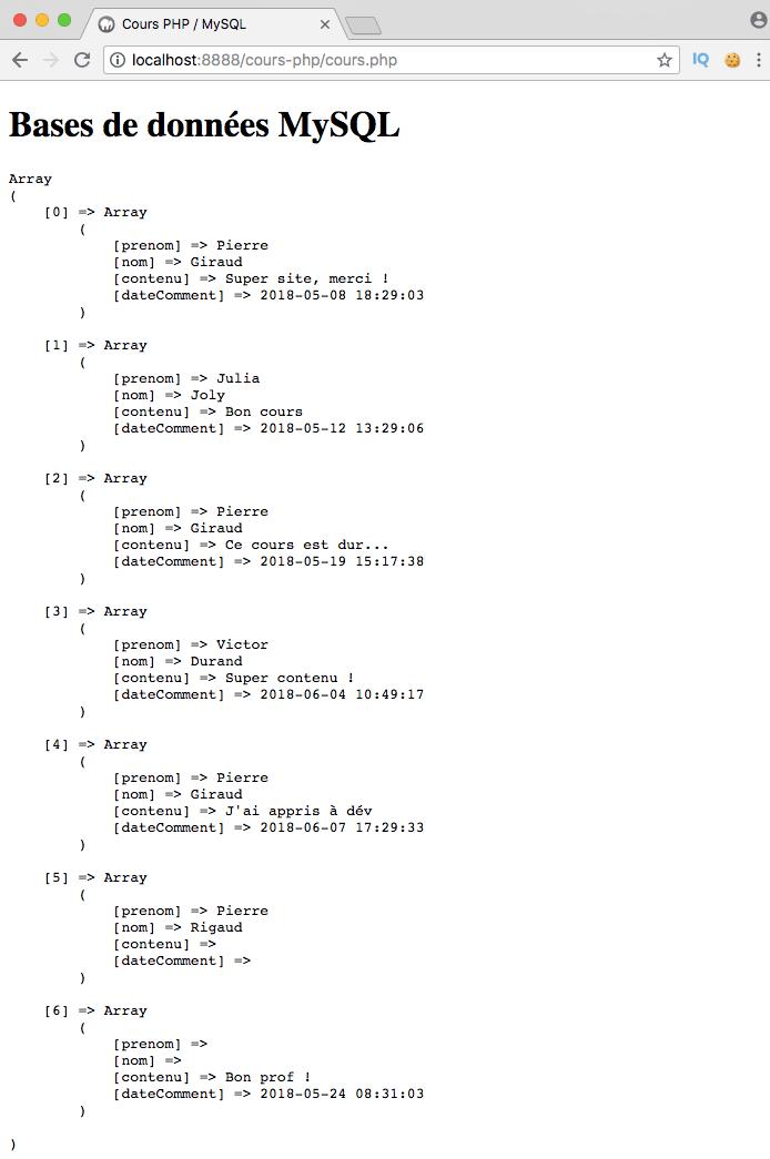 Utilisation d'union en mysql pour simuler un full outer join sql avec pdo php
