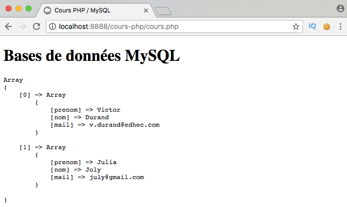 Présentation et exemple d'utilisation de l'opérateur SQL not