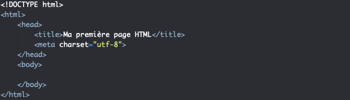 Structure minimale d'une page HTML valide