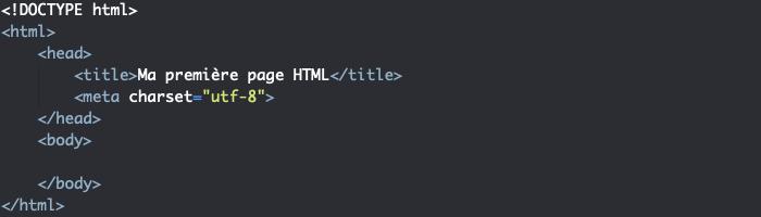 Structure minimale d'une page HTML valide