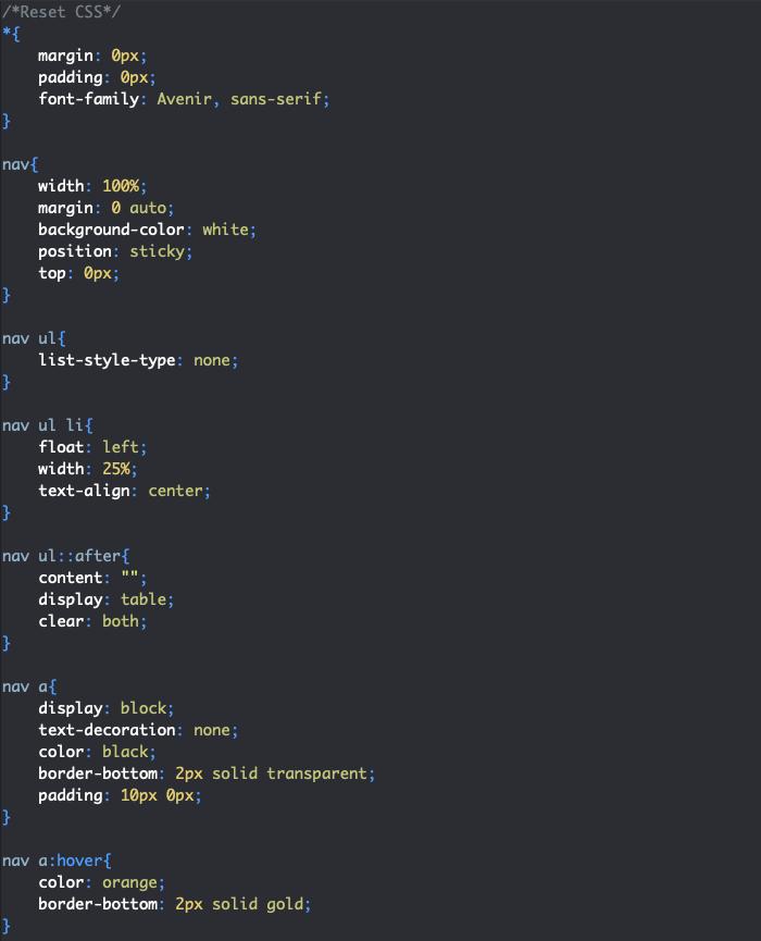 Styles menu principal menu déroulant HTML et CSS
