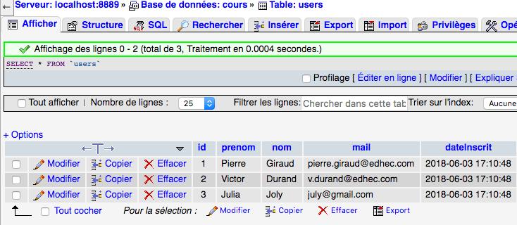 La requete SQL drop database nous permet de supprimer une base de données