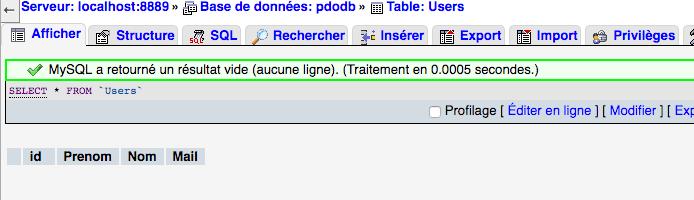 On peut utiliser la requete SQL delete from pour supprimer toutes les données d'une table