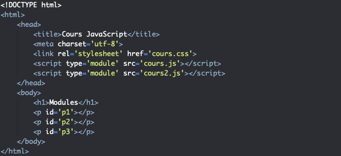 Import d'un module JavaScript depuis deux fichiers dans un fichier HTML