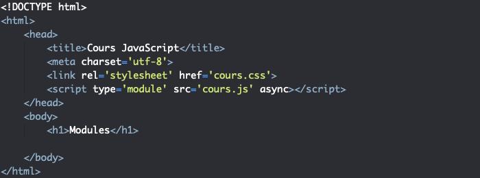 Import d'un module JavaScript dans un fichier HTML