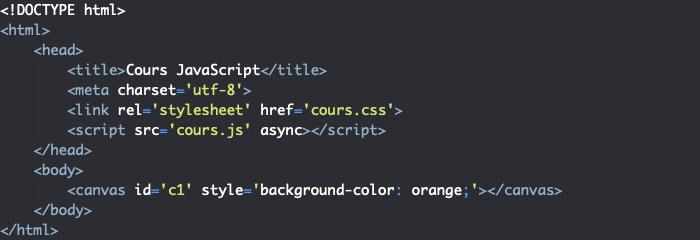 Présentation de l'élément HTML canvas